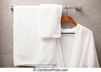 浴室, ローブ, タオルラック