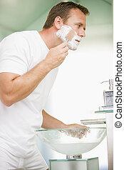 浴室, 人, 刮臉