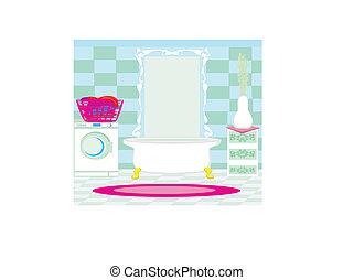浴室, 内部, 現代