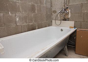 浴室, 取付け
