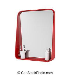 浴室, 赤, 鏡