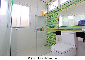 浴室, wc, 現代, 浴室, 贅沢, スイート