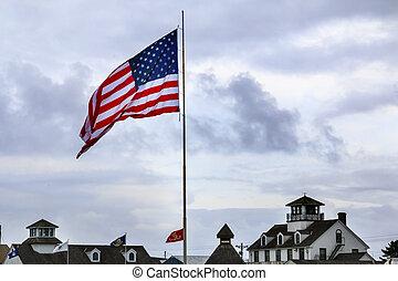 海の博物館, 旗, westport, 灰色, 港, ワシントン州