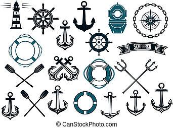 海事, 要素, デザイン, themed