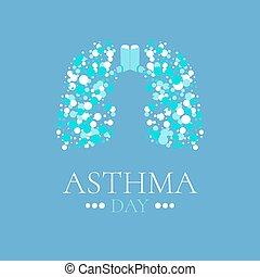 海報, 哮喘, 肺