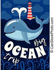 海報, 旅行, 海洋