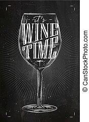 海報, 酒, 時間, 粉筆