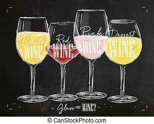 海報, 類型, ......的, 酒, 粉筆