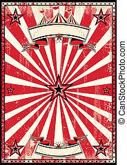 海報, 馬戲, retro, 紅色