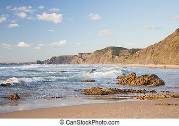 海岸線, 中に, ポルトガル