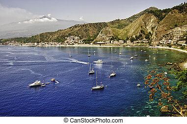 海岸, の, シシリー, 近くに, palermo, イタリア