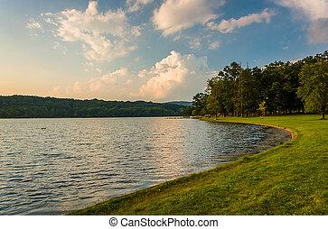 ∥, 海岸, の, 湖, pinchot, gifford, pinchot, 州立 公園, pennsylvania.