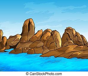 海岸, 岩が多い