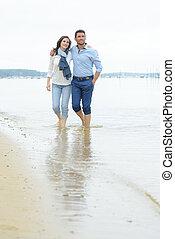 海岸, 歩くこと, 恋人