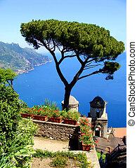 海岸, amalfi, 光景
