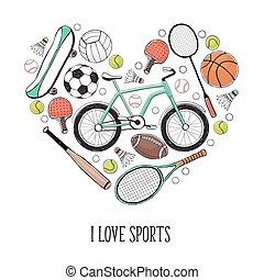 海报, 运动, 爱