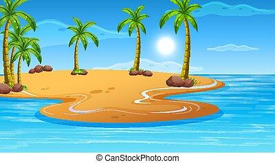 海洋, 沿岸である, 風景, 浜, 自然, 空