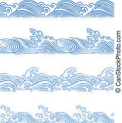 海洋 波, セット