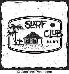 海浪, 俱樂部, concept.