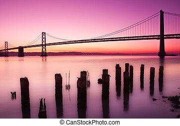 海湾桥梁, 旧金山, california.