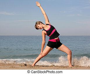 海滩, 瑜伽