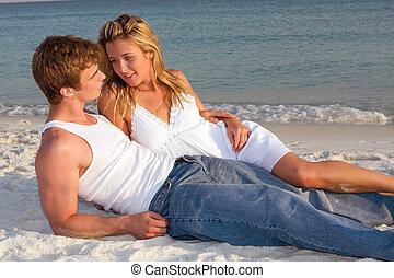 海灘, 夫婦傍晚, 位置