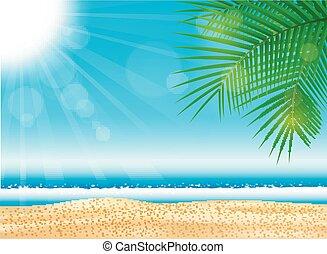 海灘, 海, 明亮, 熱帶
