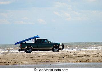 海灘, 開車