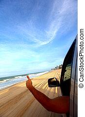 海灘, 驅動
