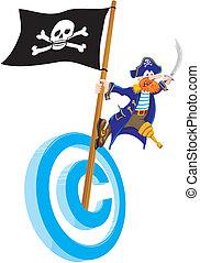 海賊行為, 著作権