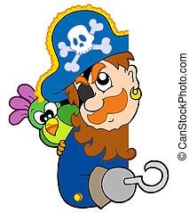 海賊, オウム, 潜む