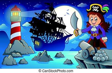 海賊, 夜