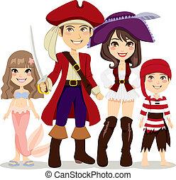 海賊, 家族