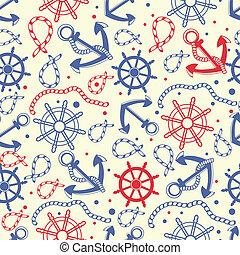 海軍, バックグラウンド。, seamless, 赤