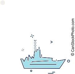 海軍, ベクトル, デザイン, アイコン