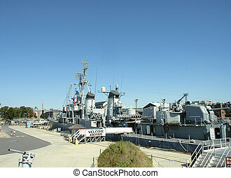 海軍, 船, uss, cassin, 若い