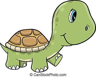 海龜, 漂亮, 矢量, 插圖