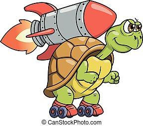 海龜, 由于, 火箭, 2