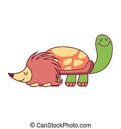海龜, 豪豬