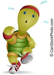 海龜, 跑