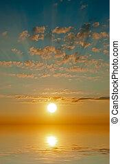 海 の 日没