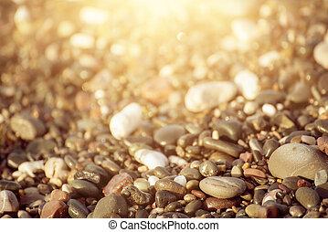 海, 卵石, 背景