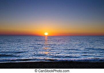 海, 太陽, &, sailsea, 太陽, &, 帆