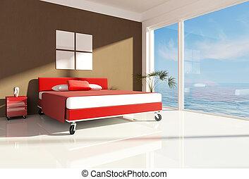 海, 寝室