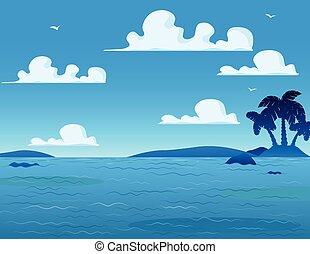 海, 風景, 背景