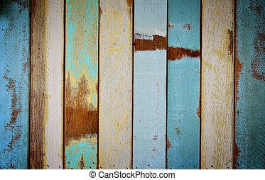 涂描, 木制, 老, 墙壁