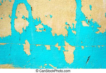 涂描, 蓝色, grunge, 墙壁