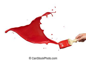 涂料溅湿, 红