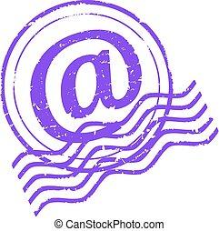 消印, 電子メール, すみれ