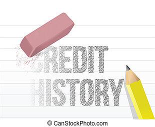 消去, 概念, イラスト, クレジット, あなたの, 歴史